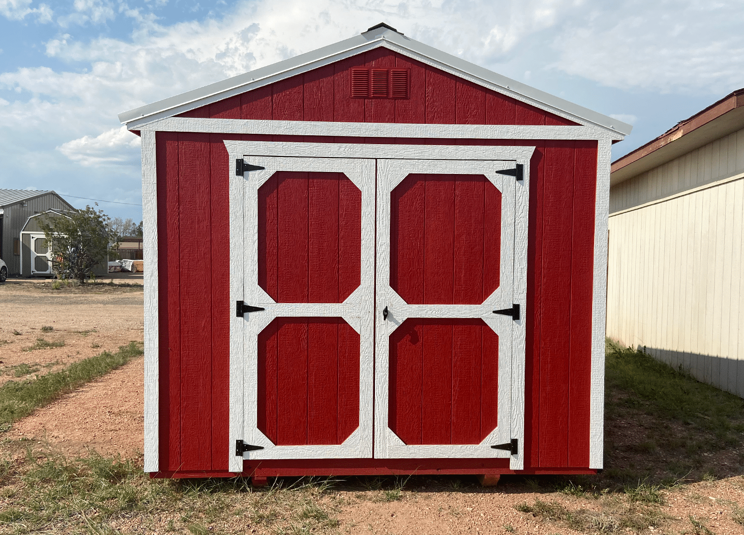Red Utility Shed Front | Portable Buildings | Storage Space | | Yoder's Storage Sheds | Colorado
