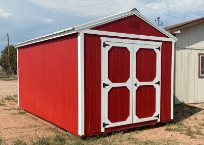 Red Utility Shed Side | Portable Buildings | Yoder's Storage Sheds | Colorado