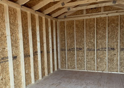 Yoder's Storage Sheds | Red Utility Interior