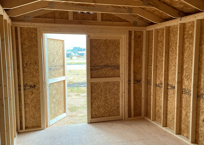 Yoder's Storage Sheds | Red Utility Interior 2
