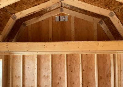 Rustic Side Loft Barn Interior | Yoder's Storage Sheds | Pueblo | Colorado