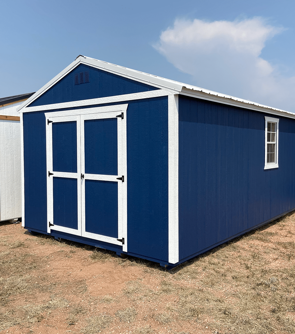 Yoder's Storage Sheds | 12x24 Blue Utility Shed | Colorado | Portable Buildings
