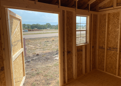 Yoder's Storage Sheds | Garden Shed | Interior with window | Colorado