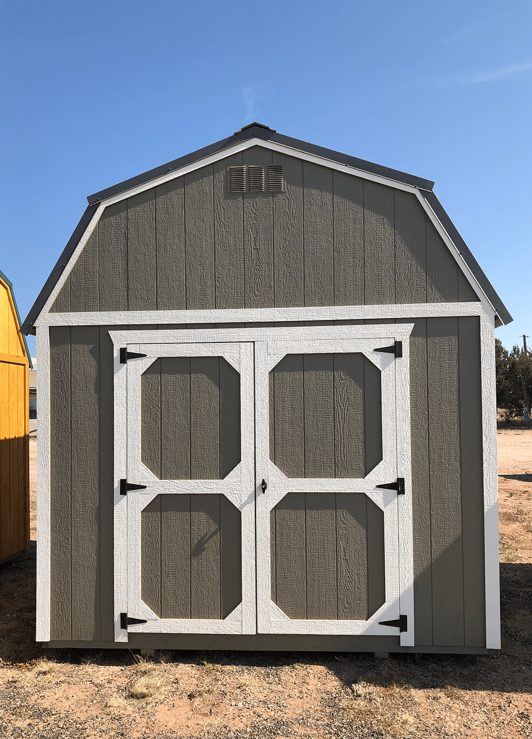 Yoder's Storage Sheds | Colorado | Gray Lofted Barn Utility Shed