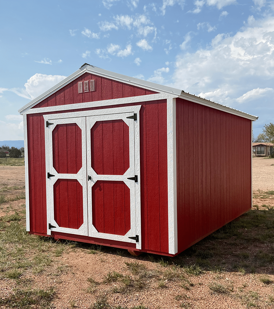 Yoder's Storage Sheds | Red Utility Storage Shed | Portable Buildings | Colorado