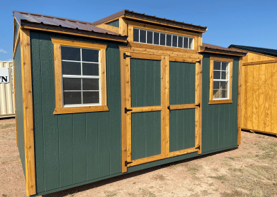 Yoder's Storage Sheds | Deluxe Utility | Green Portable Building | Colorado