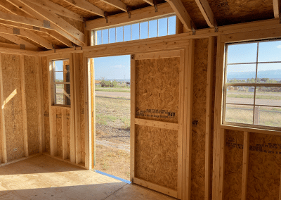 Yoder's Storage Sheds | Deluxe Utility | Portable Building | Colorado | Interior