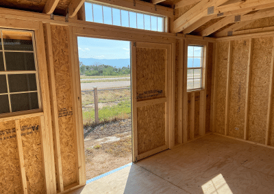 Yoder's Storage Sheds | Deluxe Utility | Portable Building | Colorado | Interior 2