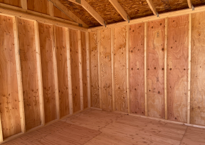 Yoder's Storage Sheds | Side Utility Shed | Colorado | Interior