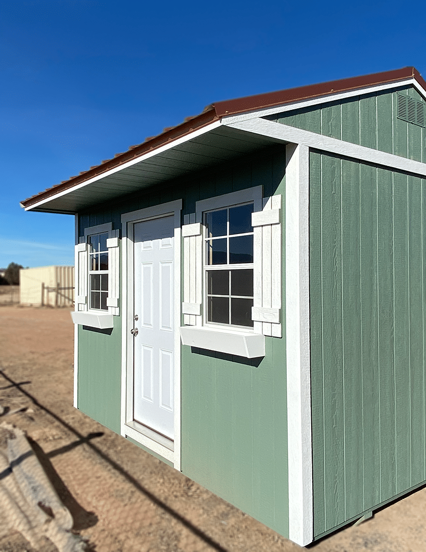 Yoder's Storage Sheds | Tips for Converting an Outdoor Shed into a Home Office | Green Shed | Colorado