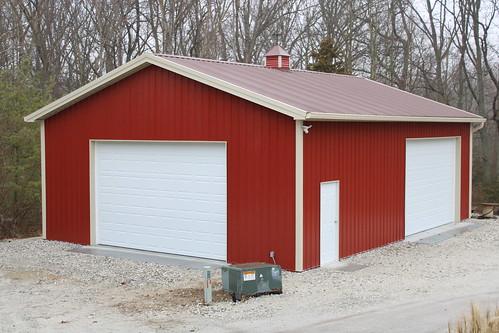 Yoder's Storage Sheds   Red Pole Barn   Colorado